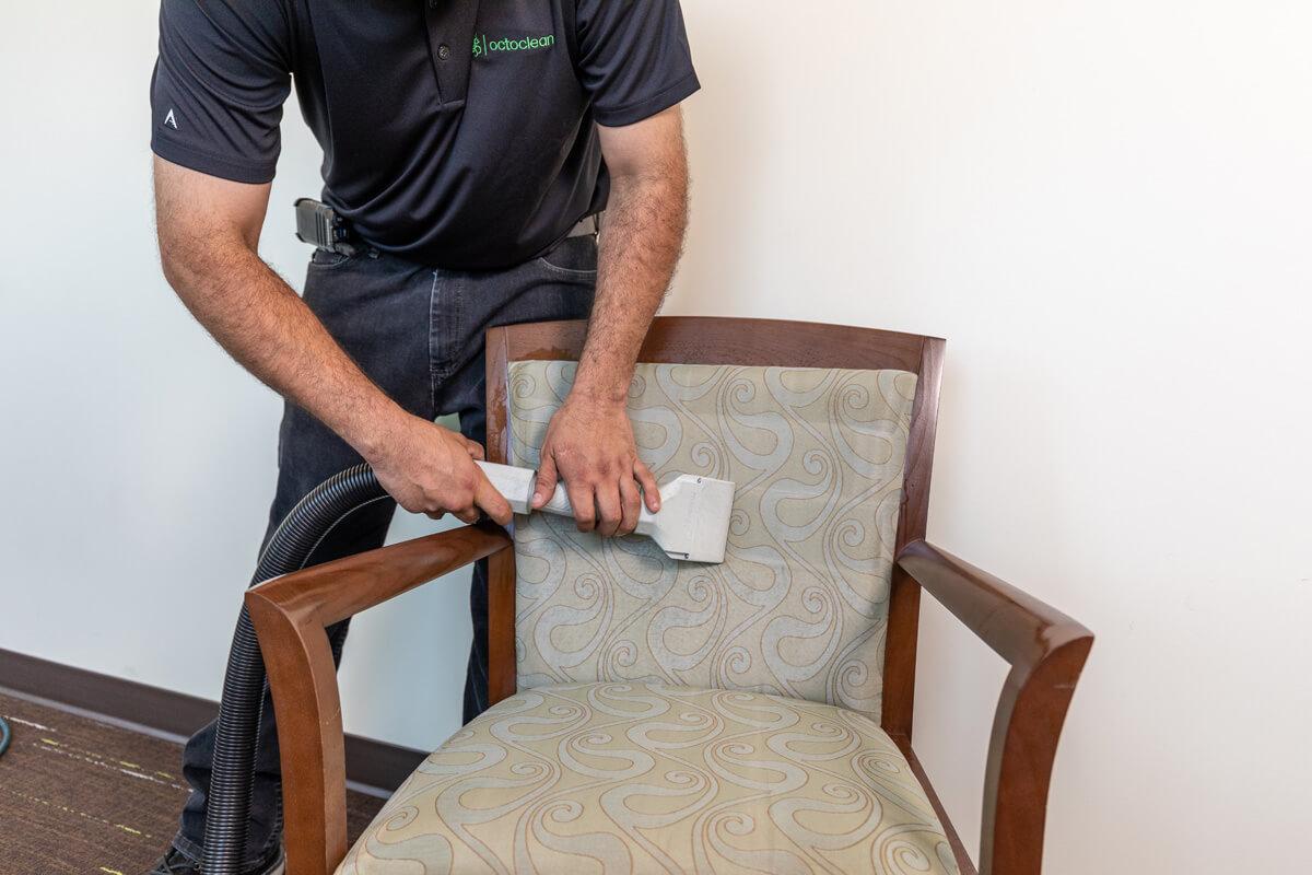 upholstery care closeup